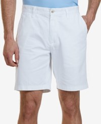 Nautica Men's Big And Tall 10 Flat Front Deck Shorts Bright White
