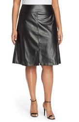 Plus Size Women's Eloquii Faux Leather A Line Skirt