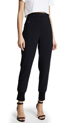 3.1 Phillip Lim Pinstripe Jogger Pants With Piping Midnight Ivory