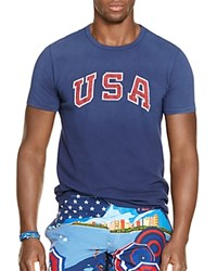 Polo Ralph Lauren Team Usa Vintage Graphic Slim Fit Tee French Navy