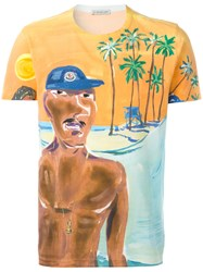 Moncler Painted Beach Scene T Shirt