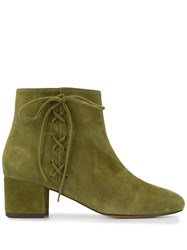 Tila March Lace Up Ankle Boots Green