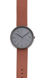 Uniform Wares M40 Pvd Date Watch Black Tan