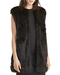Ralph Lauren Faux Fur Vest Black