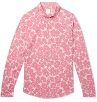 Sandro Floral Print Voile Shirt Pink