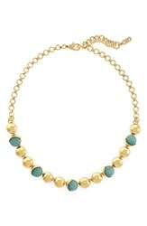 Women's Cole Haan Metal And Semiprecious Stone Collar Necklace