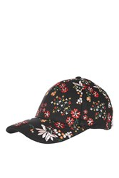 Topshop Floral Embroidered Cap Multi