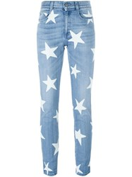 Stella Mccartney 'Ankle Glazer Star' Jeans Blue