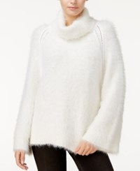 Rachel Roy Hairy Turtleneck Sweater Only At Macy's White