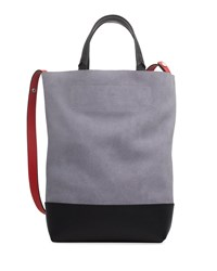 Rag And Bone Walker Convertible Tall Suede Leather Tote Bag Lilac Suede