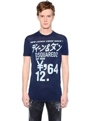 Dsquared New Japan Crew Print Wool Jersey T Shirt