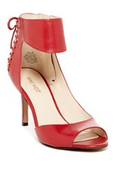 Nine West Instruct Ankle Strap Peep Toe Pump Wide Width Available Red