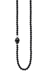 King Baby Studio Men's Skull Bead Necklace