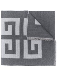 Givenchy Logo Printed Scarf Grey