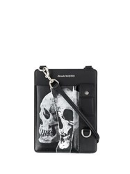 Alexander Mcqueen Skull Print Shoulder Bag Black