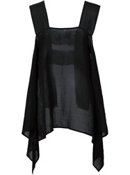 Lost And Found Draped Top Black