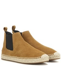 Burberry Bainsford Suede Espadrille Chelsea Boots Beige