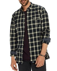 Scotch And Soda Plaid Long Sleeve Button Down Shirt Green Combo
