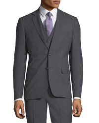 1 Like No Other Slim Fit Vested Stretch Three Piece Suit Gray