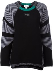 Adidas Striped Panel Jumper Black