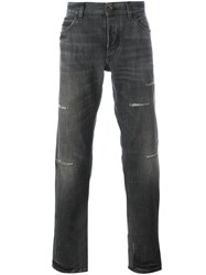Dolce And Gabbana Distressed Jeans Black