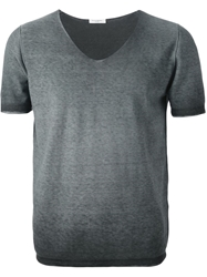 Paolo Pecora Short Sleeve Sweater Grey
