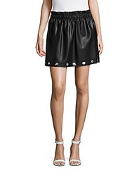 Saks Fifth Avenue Red Embellished Pull On Ruffle Skirt Black