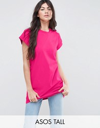 Asos Tall The Ultimate Easy Longline T Shirt Pink