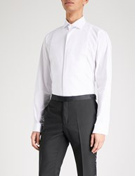 Smyth And Gibson Tailored Fit Cotton Blend Shirt White