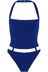 Orlebar Brown Portsea Belted Swimsuit Navy