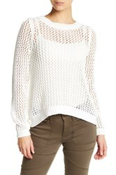 Rip Curl Looking Back Open Stitch Pullover White