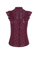 Karen Millen Victoriana Sleeveless Blouse Purple