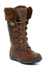 Pajar Phyllis Faux Fur Waterproof Boot Brown