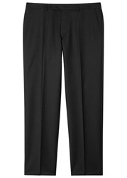 Oscar Jacobson Adam Black Slim Leg Wool Trousers