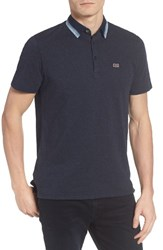 Ben Sherman Men's Tipped Jersey Polo Navy Blaze