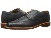 Florsheim Heritage Wingtip Oxford Navy Milled Nubuck Men's Lace Up Wing Tip Shoes