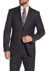 John Varvatos Bedford Charcoal Dotted Two Button Notch Lapel Wool Suit Separates Jacket