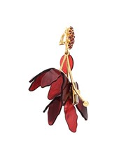Marni Clip On Earrings With Crystals Red