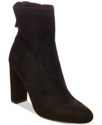 Steve Madden Women's Brisk Block Heel Sock Booties Women's Shoes Black