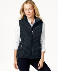 Charter Club Quilted Chevron Vest Only At Macy's Deepest Navy