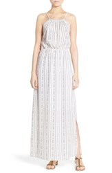 Women's Fraiche By J Print Halter Neck Maxi Dress