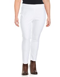 Context Plus Solid Ankle Length Pants White