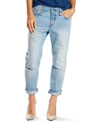 Levi's 501 Ct Customized Tapered Boyfriend Jeans Turbulent Indigo