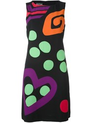 Boutique Moschino Contrast Abstract Print Dress Black