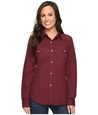 Roper 0735 Solid Broadcloth Fancy Shirt In Wine Wine Women's Clothing Burgundy