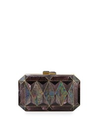 Sara Faceted Shell Minaudiere Black Violet Rafe