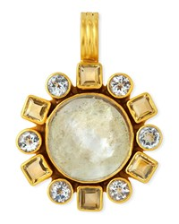 Dina Mackney Citrine Topaz And Glass Pendant Multi