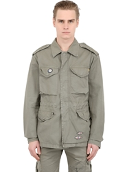 Bob Strollers Light Cotton Gabardine Military Jacket Military Green