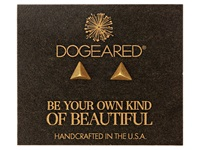 Dogeared Dare To Pyramid Spike Stud Earrings Gold Dipped Earring