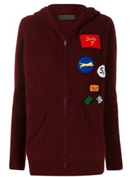 The Elder Statesman Multi Patches Knitted Jacket Red